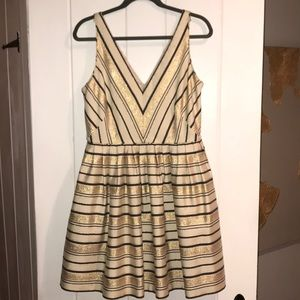 J Crew factory striped party dress